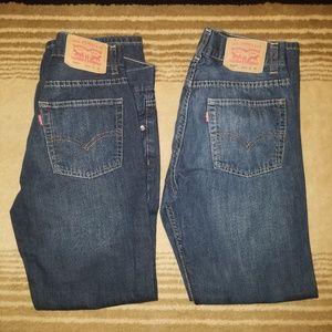 Levi's 505 slim blue jeans 26x28 or boys 16